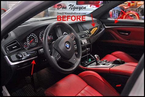 vinyl wrap interior bmw bmw m5 f10 sedan matte carbon fiber interior car