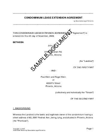 lease extension agreement united kingdom legal