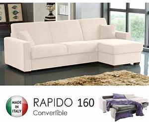 canape d39angle rapido dreamer convertible lit 16019014 With canapé lit couchage quotidien avis