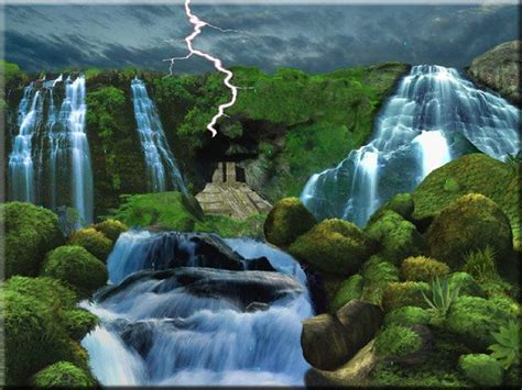Living Waterfalls Animated Wallpaper - 3d moving wallpaper 3d animated wallpapers places to