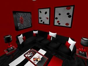 Living room black and red living room ideas furniture for Red and black living room furniture