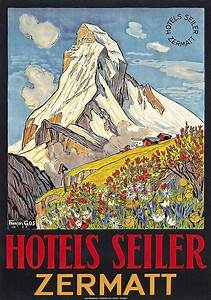 Vintage Ski Posters Up For Auction Travel