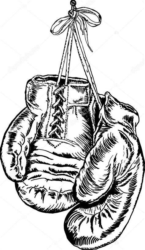 Bokshandschoenen Kleurplaat by Blanco Y Negro Dibujo De Guantes De Boxeo Archivo