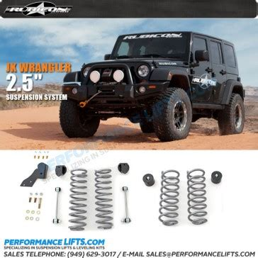rubicon express jeep jk 2 5 quot coil lift 4 door only re7141
