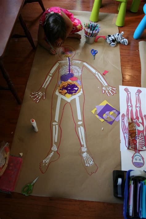 life sized body map fun family crafts