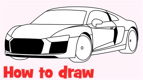 draw  car audi   youtube