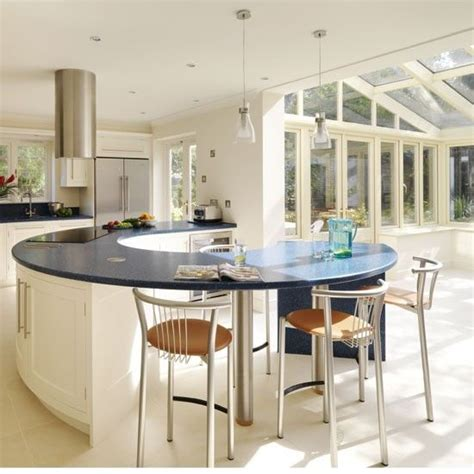 curved kitchen island painted conservatory kitchen be inspired by a spacious 3044
