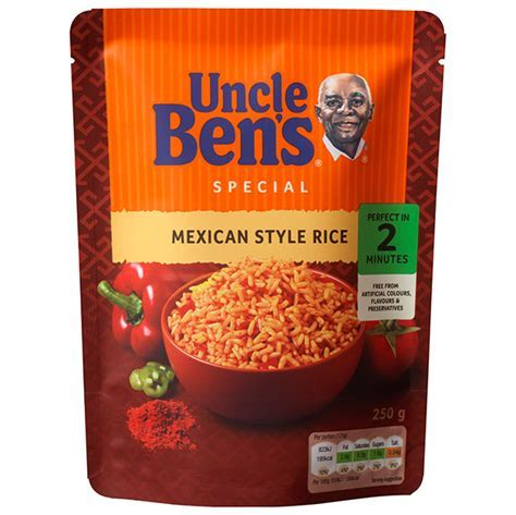 Uncle Ben's Special Mexican Style Rice 250g   Groceries