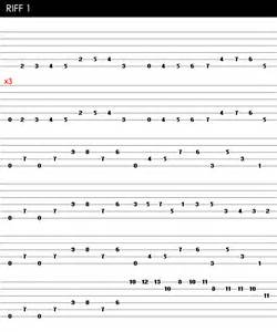 Cool Guitar Riffs Tabs