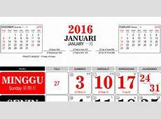 Template Kalender 2016 15 Editable Vector Corel CDR Ai PSD