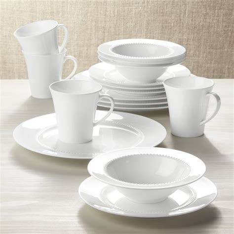 White Pearl 16 Piece Dinnerware Set   Reviews   Crate and