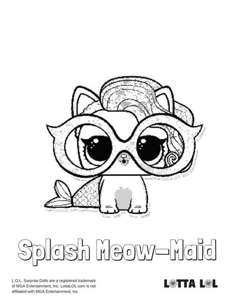 Coloring Lol Splash by Splash Meow Coloring Page Lotta Lol Coloring Pages