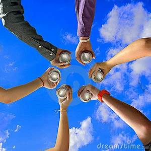 Friends Cheers At Summer Party Stock Image - Image: 21819831