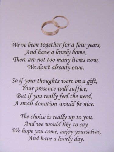 wedding poems   money gifts  presents ref