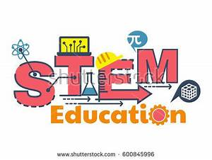 Illustration Stem Education Word Typography Design Stock ...