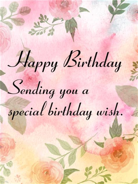 sending   special birthday  card birthday