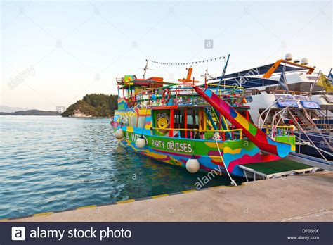 Party Boat Greece by Party Cruise Booze Cruises Boat Ship Moored In Nidri Nydri