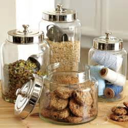 kitchen glass canisters glass canisters williams sonoma