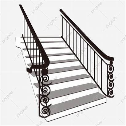 Stair Steps Clipart Plan Stairs Psd Railing