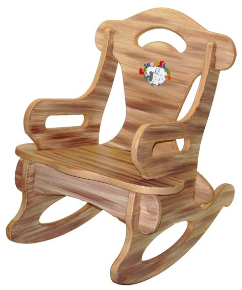 brown puzzle rocker rocking chair solid wood   dazzlecrystal  kid miscellany