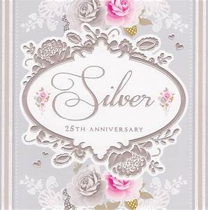 Silver 25th Anniversary Card Stephanie Rose CardSpark