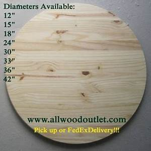 Round Table Tops, Unfinished Pine for sale in Stamford