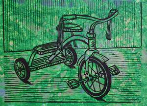 Tricycle Drawing by William Cauthern