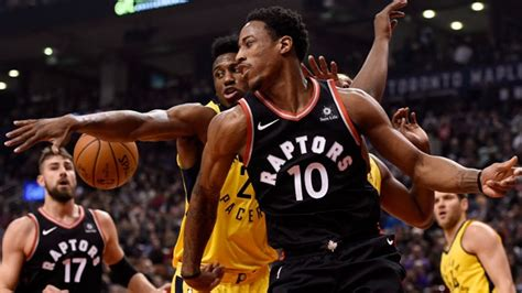 DeMar DeRozan scores 26 to lead Raptors past Pacers for ...