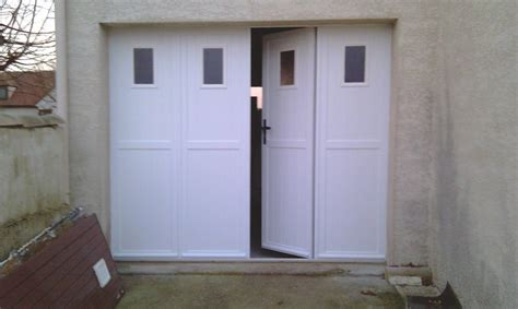 portes de garage sectionnelles laterales  battantes
