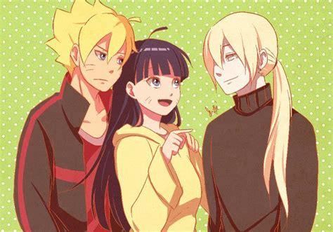 Naruto Shippuden, Fan Art, Boruto, Himawari, Inojin