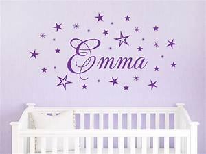 Motive Für Babyzimmer : wandtattoo name mit sternen wandtattoo de ~ Michelbontemps.com Haus und Dekorationen