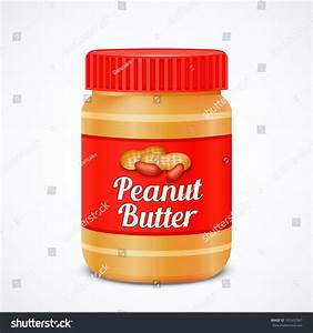 Jar Peanut Butter Isolated On White Stock Vector 191602967 ...