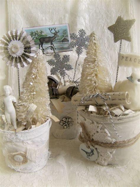 winter white decor handmade christmas decoration vintage
