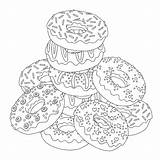 Donut Drawing Coloring Donuts Dunkin Pages Getdrawings sketch template