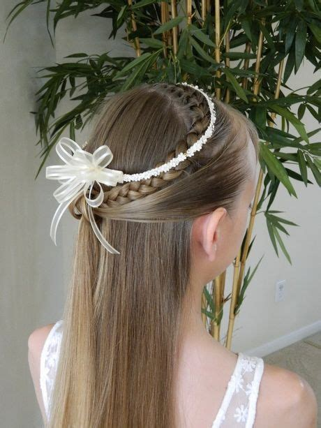 simple  pretty  communion hairstyle