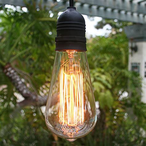 st64 edison style light bulb squirrel cage vintage