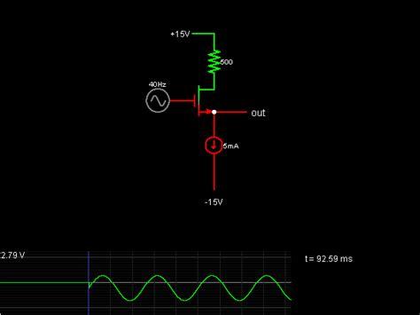 Source Follower Circuit Simulator
