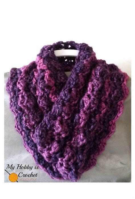 Purple Paris Cowl   AllFreeCrochet.com