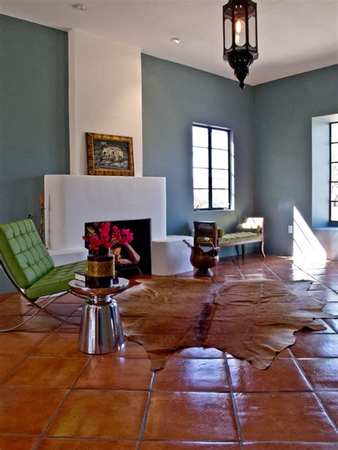 terracotta sofa living room how large is the tile is it mexican saltillo or terra