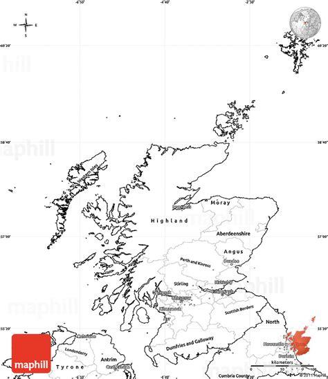 blank simple map  scotland