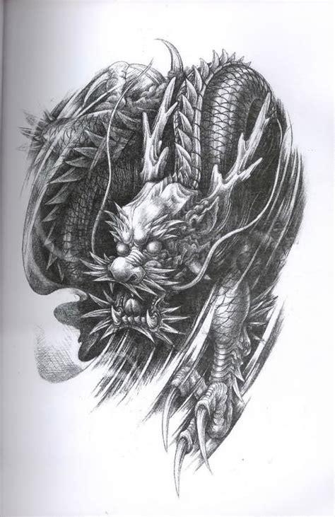 samurai dragon tattoo design