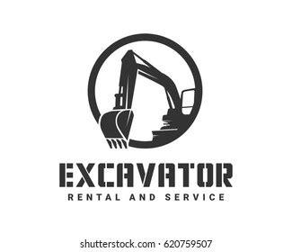 excavator silhouette images stock  vectors shutterstock