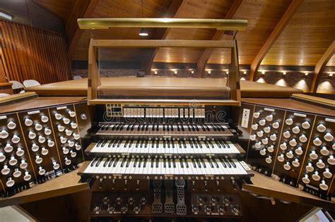 Church Pipe Organ Keyboards Stock Photo Image Of