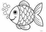 Fish Pages Print Colouring Coloring Printable Clown Rainbow sketch template