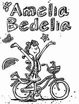 Amelia Bedelia Coloring Pages Drawing Biycle Books Wecoloringpage Awesome Summer Character Printable Getcolorings sketch template