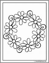 Daisy Coloring Pages Garland Daisies Swirl Colorwithfuzzy sketch template