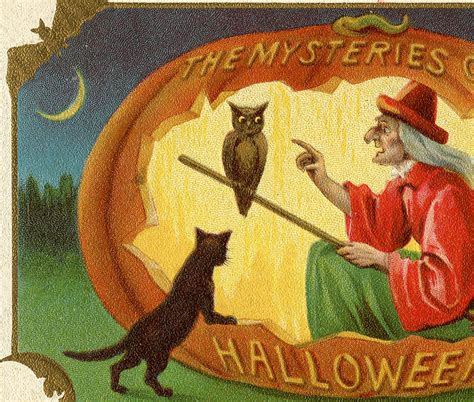 vintage halloween witch   graphics fairy