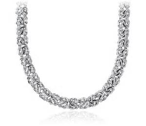 wedding program basket byzantine necklace in sterling silver blue nile