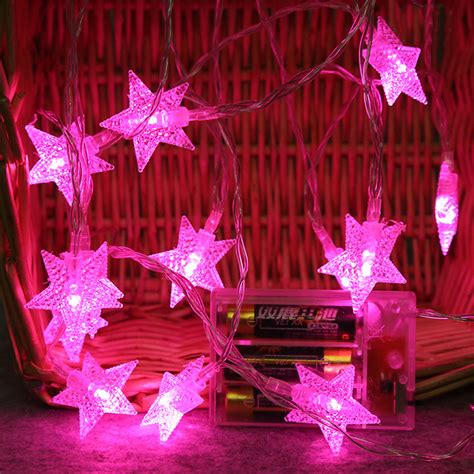 Super bright 2M 10 LED Crystal Clear Star Fairy String