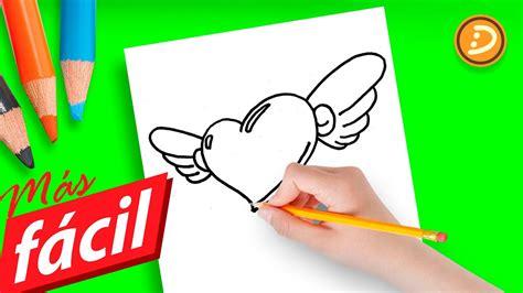 dibujos de amor faciles de hacer paso  paso   draw  simple love heart  wings youtube